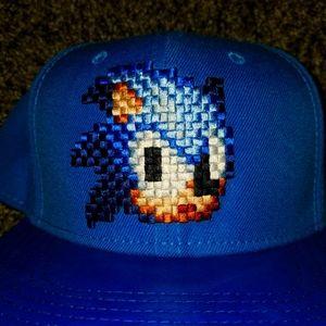 Sonic the Hedgehog 8Bit Embroidered Logo Snapback